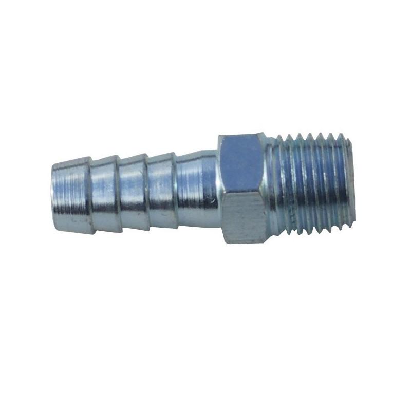 Tooline HB1/4M Hose Barb Male, BSP Thread - Bulk
