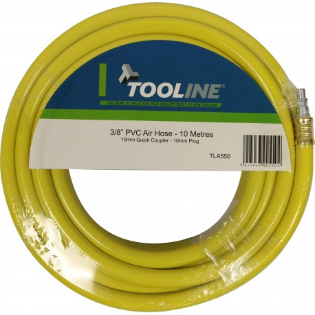 Tooline PVC 10m Air Hose With Fittings