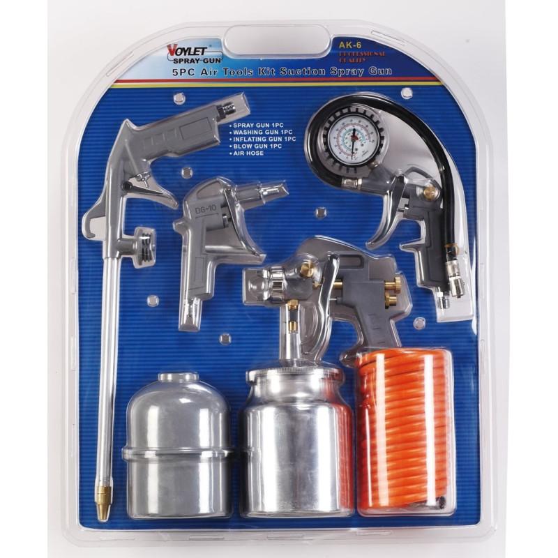 Voylet 5 Piece Spray Gun Kit