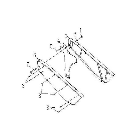 Blade Guard Assembly (Parts 1 -8) for TS250