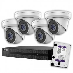 HILOOK 5MP IP 4-Channel Surveillance Camera Kit with 2TB