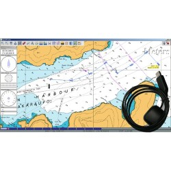 USB GPS + GLONASS Receiver complete with Chartplotter S/W and LINZ marine charts